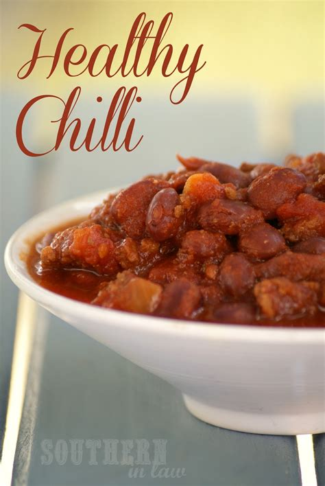 low fat comfort food southern in law recipe healthy chilli con carne