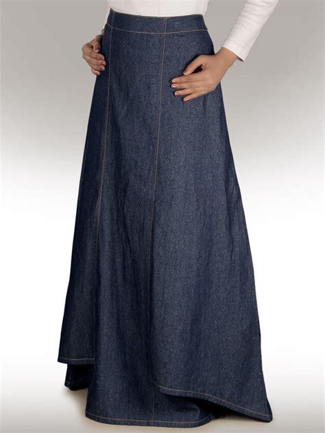 zia denim blue skirt as 001 formal daily wear