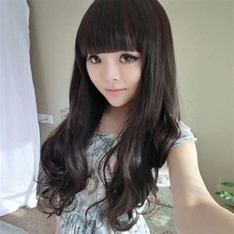 Poni Depan Flat Bangs Poni Palsu inspiration haircuts hairstyles tutorials korean style