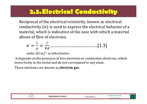 electrical resistance meaning engineering physics 1 electrical conductivity