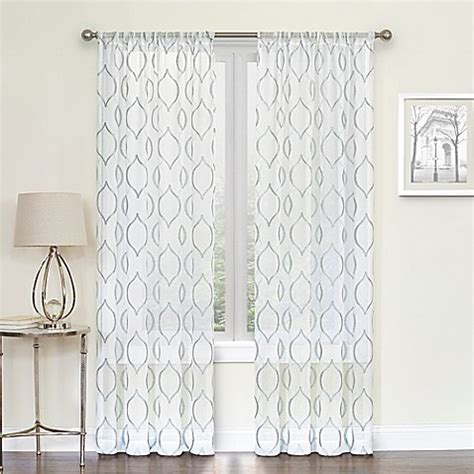 hourglass curtains hourglass rod pocket sheer window curtain panel bed bath