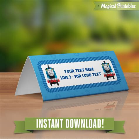 instant card downloads the editable birthday tent cards instant