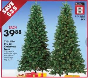 7 ft slim pre lit christmas trees blackfriday fm