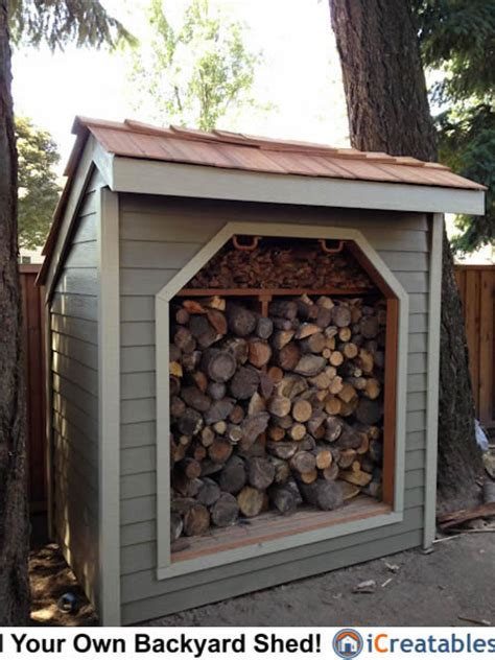 firewood shed plans diy wood bins easy  build wood