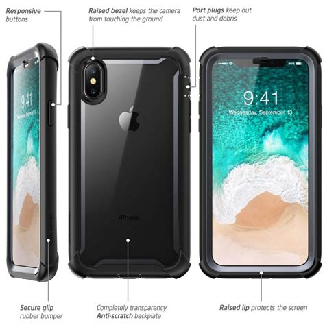 Iphone Z Black by K 246 P Supcase Ares Clear Iphone X Xs Black