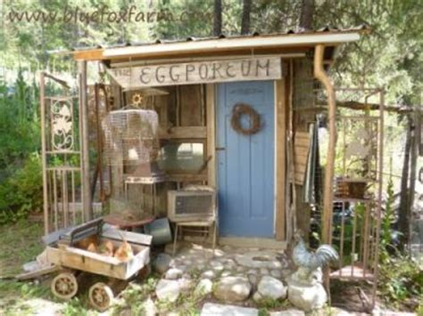 Junk Garden Sheds   every garden needs at least one rustic little shack