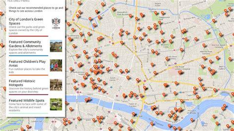 parks map  london expanded   capital london