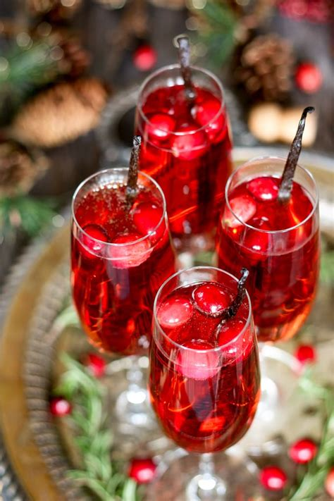 christmas cocktails recipes vanilla cranberry mimosa the perfect easy holiday cocktail