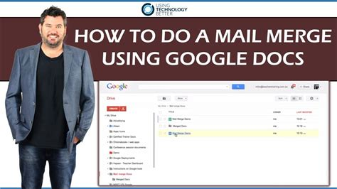 How To Use Mail Merge - how to do a mail merge using google docs youtube