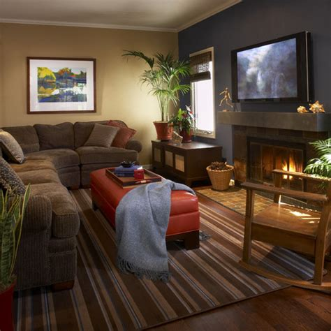 cozy family room cozy small family room gray and brown walls small