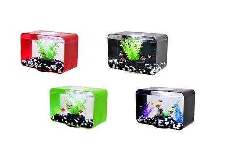 Lu Led Aquarium Mini china acrylic smart filtration led lighting mini aquarium