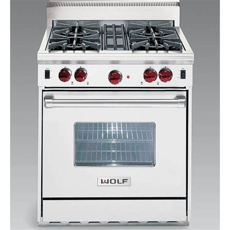 stoves wolf stoves wolf df304 30 quot dual fuel range with 4 sealed burners