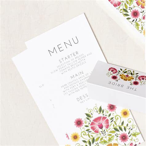 I Do Wedding Stationery by Amongst The Flowers Signature Menu Says I Do