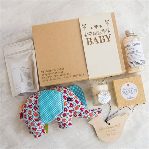 Gift Boxes For Baby Shower by Hello Baby Personalised Gift Box By Fora Creative