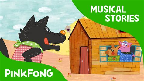 three stories the three little pigs fairy tales musical pinkfong