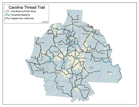 carolina thread trail map the carolina thread trail is on the cusp of being a