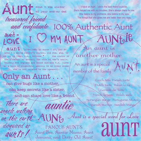 Quotes For Aunts Birthday Aunt Mothers Day Quotes Aunt Words Scrapbook Paper