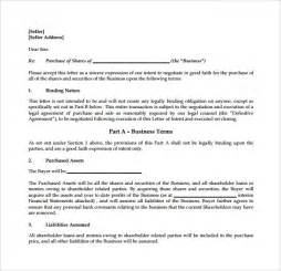 Letter Of Intent To Purchase A Business Free Business Purchase Letter Of Intent The Best Letter Sle