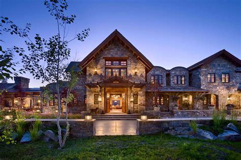 4 Bedroom Ranch House Plans With Basement A Dream Home In Big Sky With Rustic Mountain Style