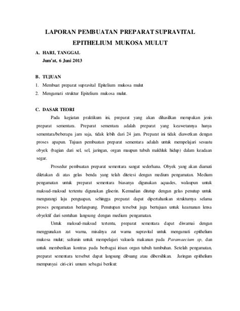 laporan praktikum membuat masker bengkoang laporan praktikum supravital epithelium mukosa mulut lab