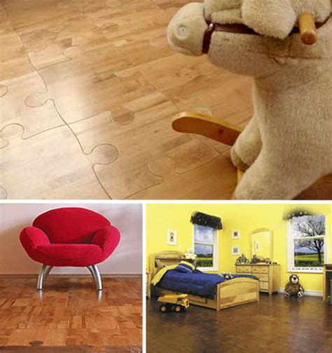 Puzzle Floor Wood by Step It Up 15 Creatively Funky Floors Flooring Designs Urbanist