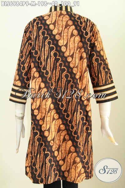 Batik Wanita Blus Kantor model baju batik atasan wanita kantor batik blus motif klasik slarak proses printing dengan