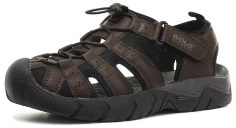 gola mens sandals gola 2015 shingle 2 synthetic leather brown mens sports