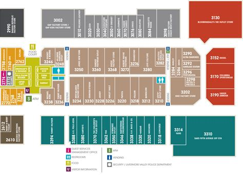 ui layout east paragon outlets livermore valley phase i layout east