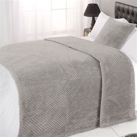 bed throw luxury large waffle honeycomb mink warm thick throw over