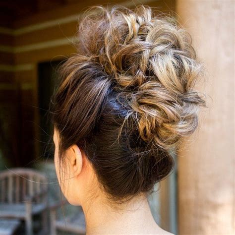 curly faux hawk wedding updo i love this we this