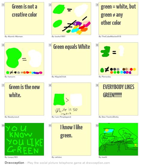 green is not a creative color green is not a creative color drawception