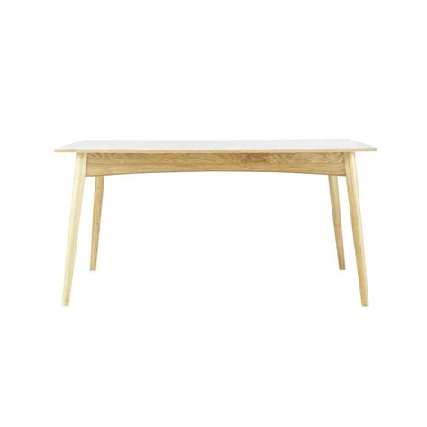 wooden extending dining table in white w 150cm boop