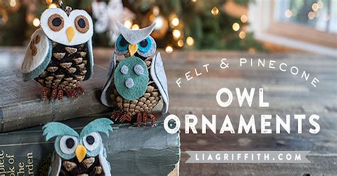 diy pinecone owl ornaments pictures   images
