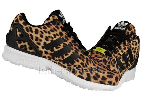 new adidas zx flux torsion leopard print animal womens trainers zx8000 m18768 ebay