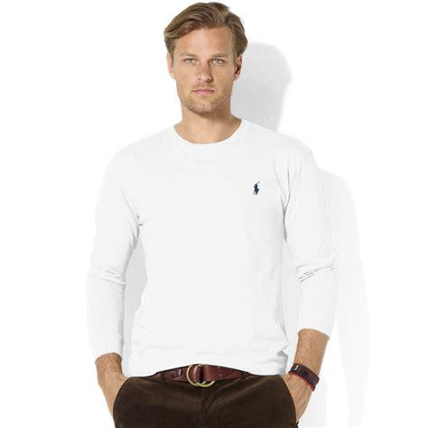 Ralph T Shirt Damen by Ralph Classic Fit Longsleeve Cotton Jersey Pocket
