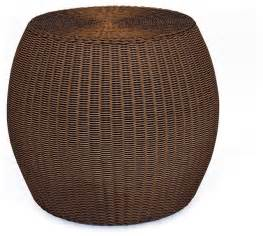 Wicker Accent Table Palmetto All Weather Wicker Accent Table Traditional Side Tables And End Tables By Pottery