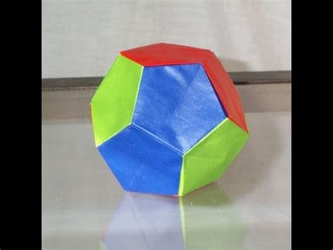 how to make an origami dodecahedron origami dodecahedron