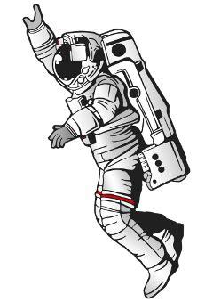 love to godart - Sticker by Angelinalindaluna   Astronaut