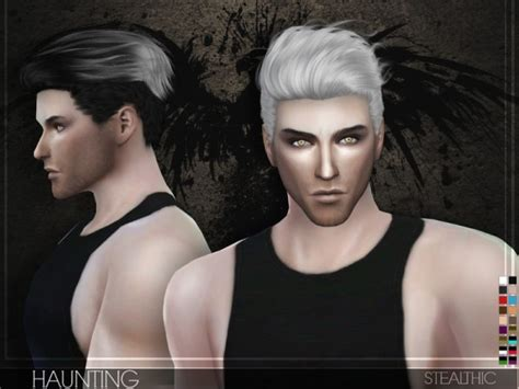 download hair and clothes for sims 4 the sims resource stealthic haunting male hair sims