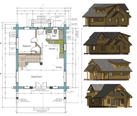 wood cabin plans home floor plans