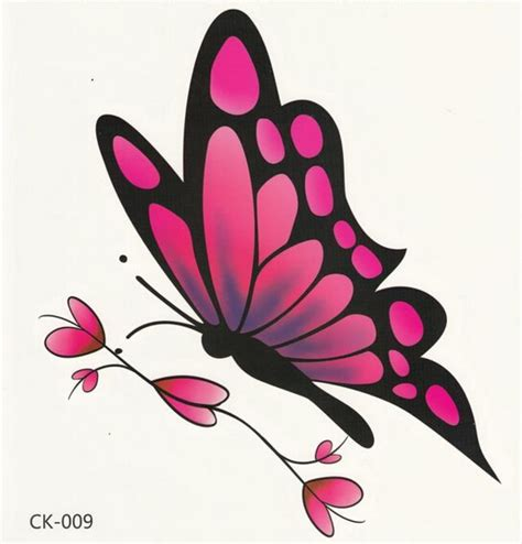 Blouse Maple Butterfly Kupu Kupu black and pink ink flying butterfly design