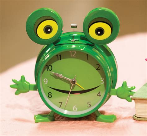 frog alarm clock by manual woodworkers and weavers 100 clocks