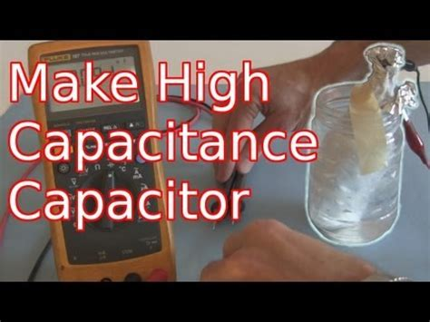 how to make a capacitor out of aluminum foil how to make a high capacitance electrolytic capacitor