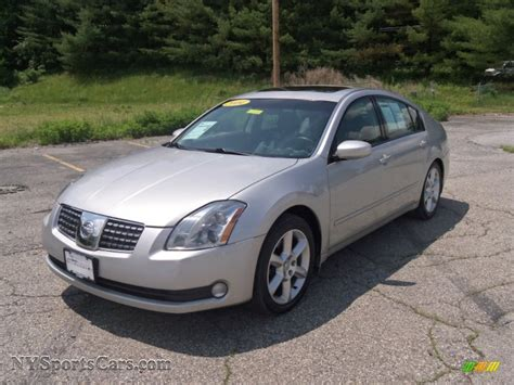 nissan maxima 3 5 se 2004 nissan maxima 3 5 se in liquid silver metallic photo