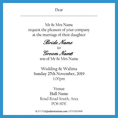 walima invitation card template walima invitation text choice image invitation sle