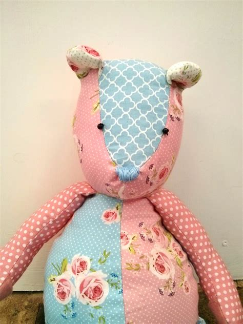 Patchwork Teddy - patchwork teddy sewing pattern