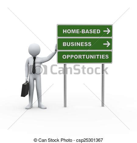 3d businessman road home based business opportunities 3d