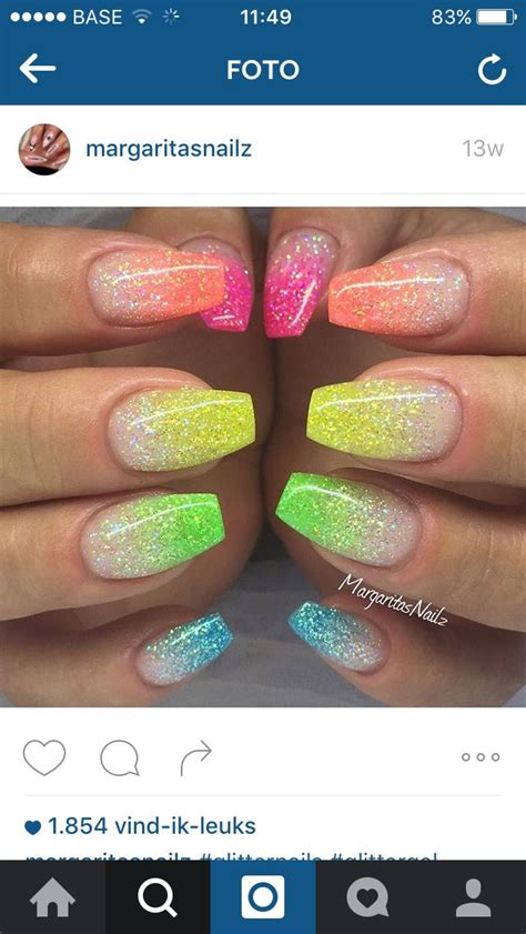 Neon Nail by 17 Best Ideas About Neon Nails On Summer Nails