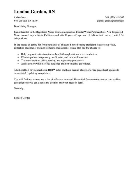 Cover Letter For Nursing Position Exles by Free Cover Letter Exles For Every Search Livecareer