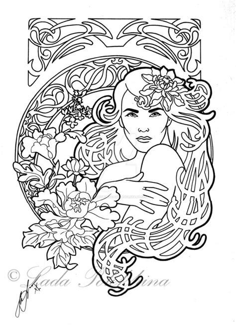 nouveau coloring pages 191 best nouveau coloring pages images on
